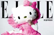 Stylish Feline Covers - There are Two Elle Taiwan Hello Kitty Covers for December 2011