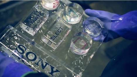 Playstation Ice Sculpture