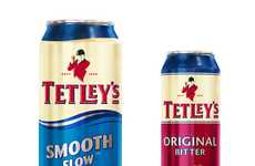 Alluring Ale Packaging - Beer Company Tetley's Gets a Redesign From wpaPINFOLD