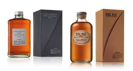 Origami-Inspired Packaging - Nikka Whiskey Hints at its Japanese Roots With its Unfolding Wrapper