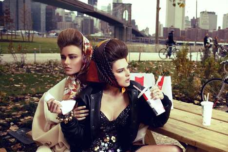 Fast-Food Fashionistas - Tamara and Sofija by Henryk Lobaczewski are Tough Chicks