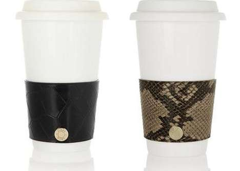 Slithering Java Corsets - The Jimmy Choo Coffee Cup Sleeve Dresses Beverage with an Exotic Twist