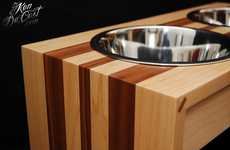 Fanciful Wooden Pooch Feeders