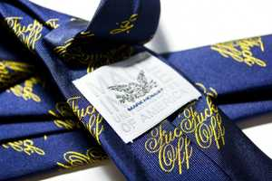 Mark McNairy 'F Off' Tie & Bowtie is Fashion with an Attitude