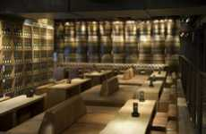 Wine Cellar Lounges - Carbon Bar Offers an Industrial and Contemporary Atmosphere