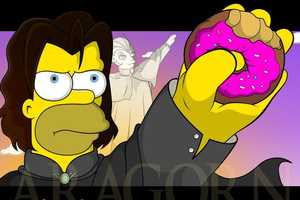Mary Johan Juver Melds The Simpsons and Lord of the Rings