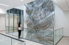 Undulating Metal Installations