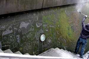 Strook Washed Mossy Walls to Create Public Art