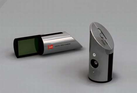 Compact Cylindrical Cameras - Vladimir Nikolic Designs a Powerful and Palm-Sized Digital Camera
