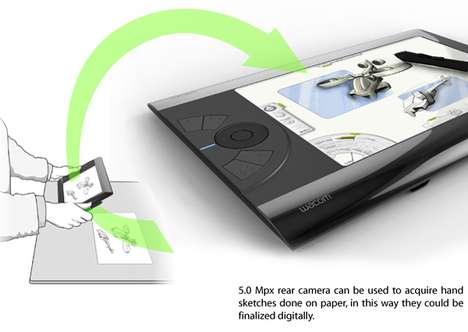 Featherweight Artist Tablets - The Wacom Sketcher Weighs in at Under Two Pounds