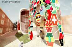Flag-Covered Backpacker Abodes - The B1 Hostel Makes Backpackers from All Over Feel at Home