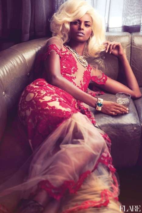 Yasmin Warsame for Flare Magazine January 2012
