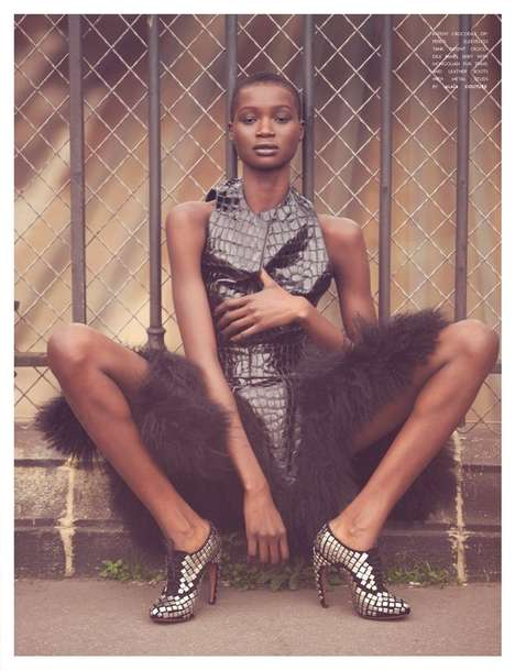 Ataui Deng for Flaunt Winter 2011