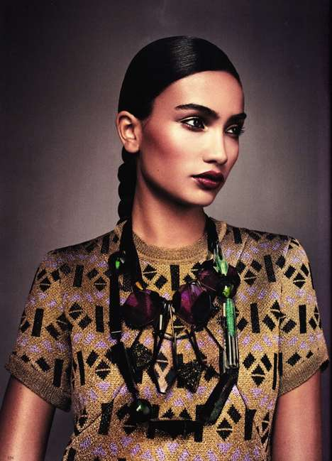 The Kelly Gale for Elle Sweden December 2011 Shoot is Tribal-Chic