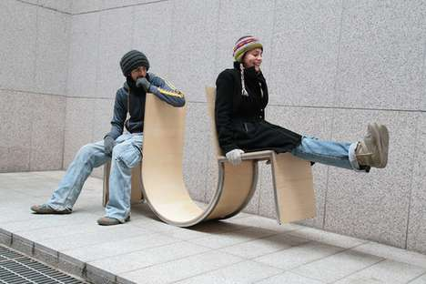Playground-Inspired Furniture - Swingers by Neulhae Cho Brings Strangers Together