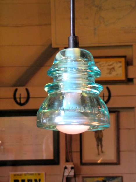 pendant light insulator railroad telegraph