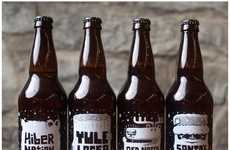 Punny Holiday Brews - Vessel Creates Custom Seasonal Beer Bottles for Their Clients