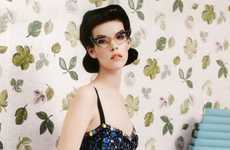 Funky 50s Fashion - The Meghan Collison Vogue Russia Editorial is Retro Geek-Chic