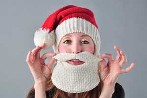 The SnorgTees Santa Beardhead Gives You Festively Faux Facial Hair