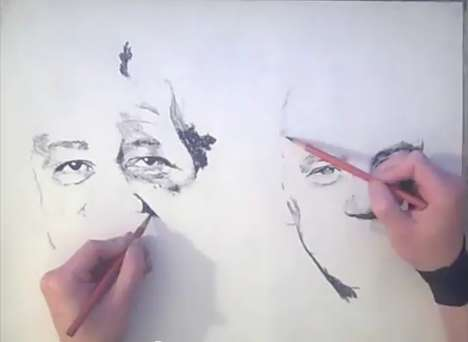 Xiaonan Sun Two Handed Drawing