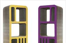 Completely Recyclable Compartments - The Reinhard Deines 'Dickens' Bookshelf is Sustainably Chic