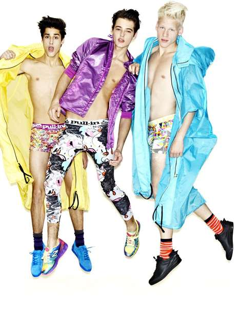 Kaleidoscopic Menswear Ensembles - The 'Boys Wanna Have Fun' Shoot by Matias Indjic is Loud and Bold