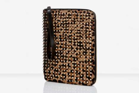 Studded Tablet Protectors - The Christian Louboutin Cris Case Boasts a Leopard Pony Aesthetic