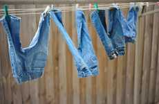Washer-Free Denim - The Self-Cleaning Jeans Design Removes Dirt and Stains When Exposed to Sunlight
