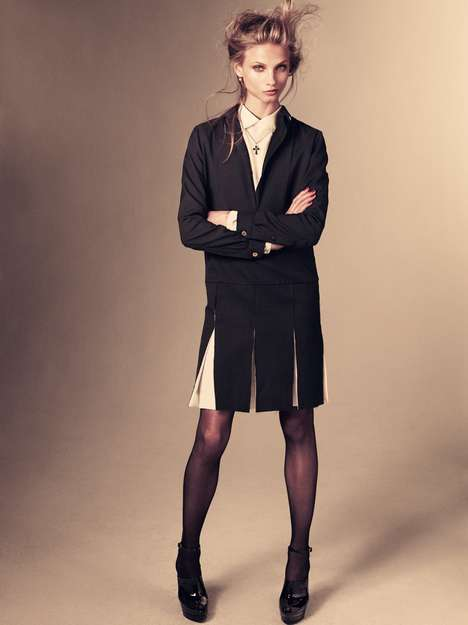 Sassy Schoolgirl Ensembles  - The Anna Selezneva Vogue Japan January Shoot is Alluring