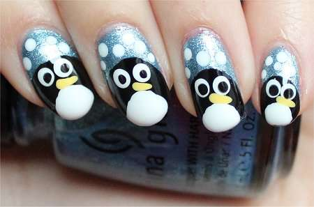 Penguin Nails Tutorial