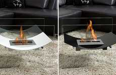 Deceptively Floating Hearths - Bio-Blaze's Veniz Fireplace Produces Absolutely No Smells or Smoke