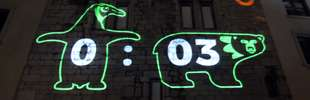 Laser Christmas Graffiti - The Vodaphone Campaign of Gift Giving Incorporated Facebook