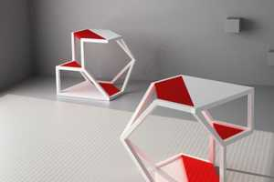 The Parchitects 'Asteroid' Table Doubles as a Sleek Shelf