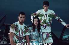 Exotic Blossoming Fashion - Mariacarla Boscono Stars in the Givenchy Spring Summer Campaign