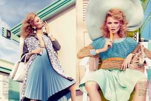 The Magdalena Frackowiak Vogue Japan February 2012 Shoot is Flirty