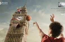 Adventurous World Sports Ads - The Bank of China 2012 Olympics Campaign Features London's Big Ben