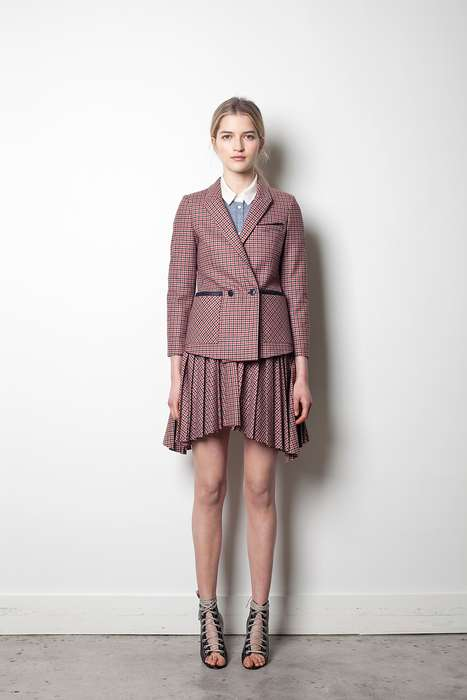 Sultry Schoolgirl Outfits - The Band of Outsiders Pre-Fall 2012 Collection is British-Chic