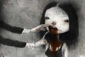 Tony Sandoval Paints Gruesome Girls with Enlarged Craniums