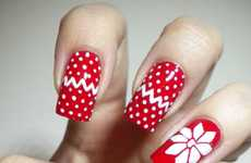 Christmas Sweater Nail Designs