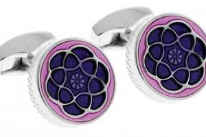 The Tateossian Jewelry 'Yerevan' Cufflinks are Glamorously Chic