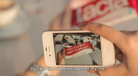 Customized Candy Messages - Lacta App Lets You Personalize Chocolate Bars With Augmented Reality