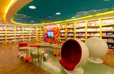 Bold Yellow Book Shops - Saraiva Bookstore Offers a Vibrant Shopping Experience