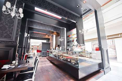 Elegant Victorian Dessert Shops - Carbon Designs Bea's of Bloomsbury Cupcake Kiosk
