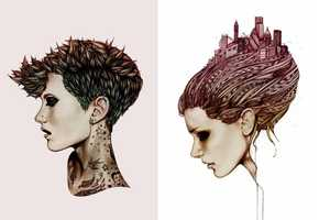 Ross McEwan Illustrates Sultry Visages of Beautiful Ladies