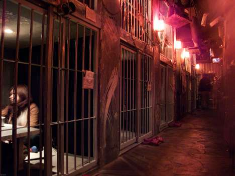 Spine-Chilling Caged Diners - The Alcatraz Medical Prison Restaurant is a Spooky Caged Bar