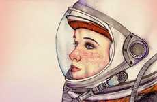 Female Space Explorer Depictions
