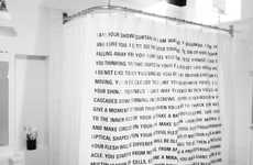 Word Nerd Shower Covers
