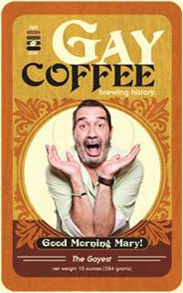 Campy Coffee Brands - Gay Coffee Raises Awareness with Same-Sex Supportive Brews