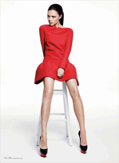 Elle US January 2012 Victoria Beckham