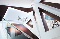 Dynamic Geometry Coffee Shops - Arthouse Cafe by Joey Ho Applies 3D Triangle Accents